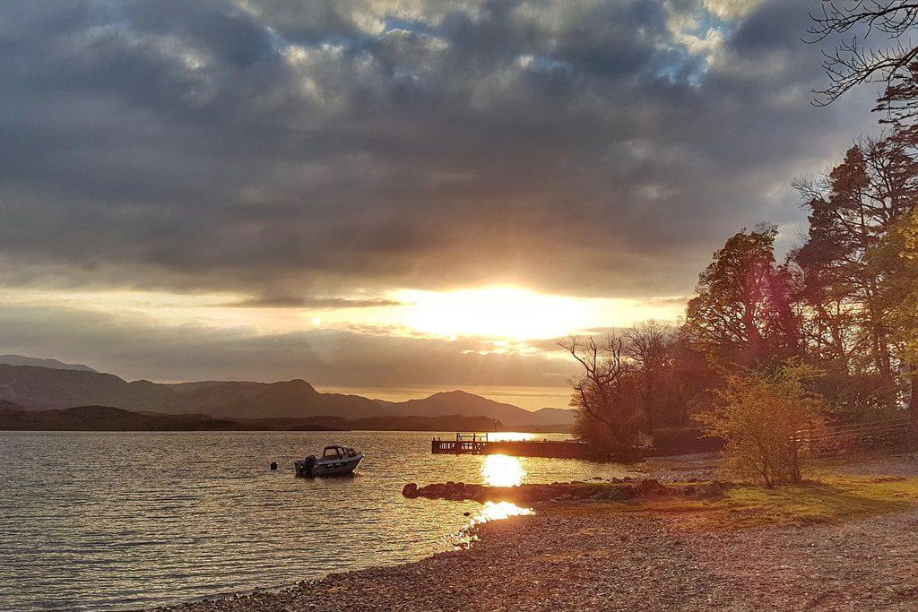 Sunset on Loch Maree
