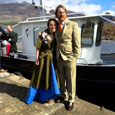 Wedding venue in Scotland with boat