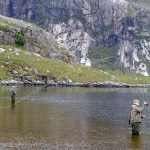 Fly-fishing in Carnmore at Fionn Loch
