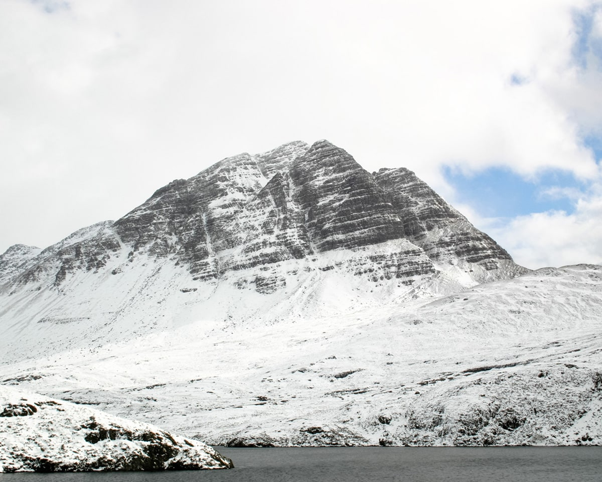 Slioch Mountain Scotland in winter