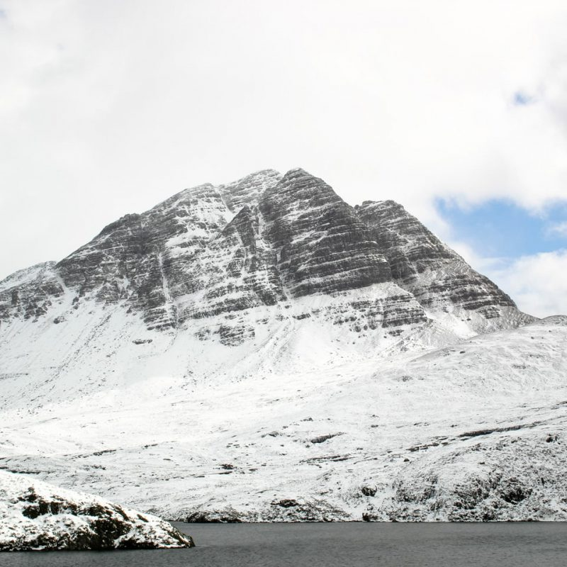 Slioch mountain in Winter