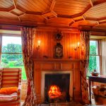 Roaring fire of Letterewe lodge