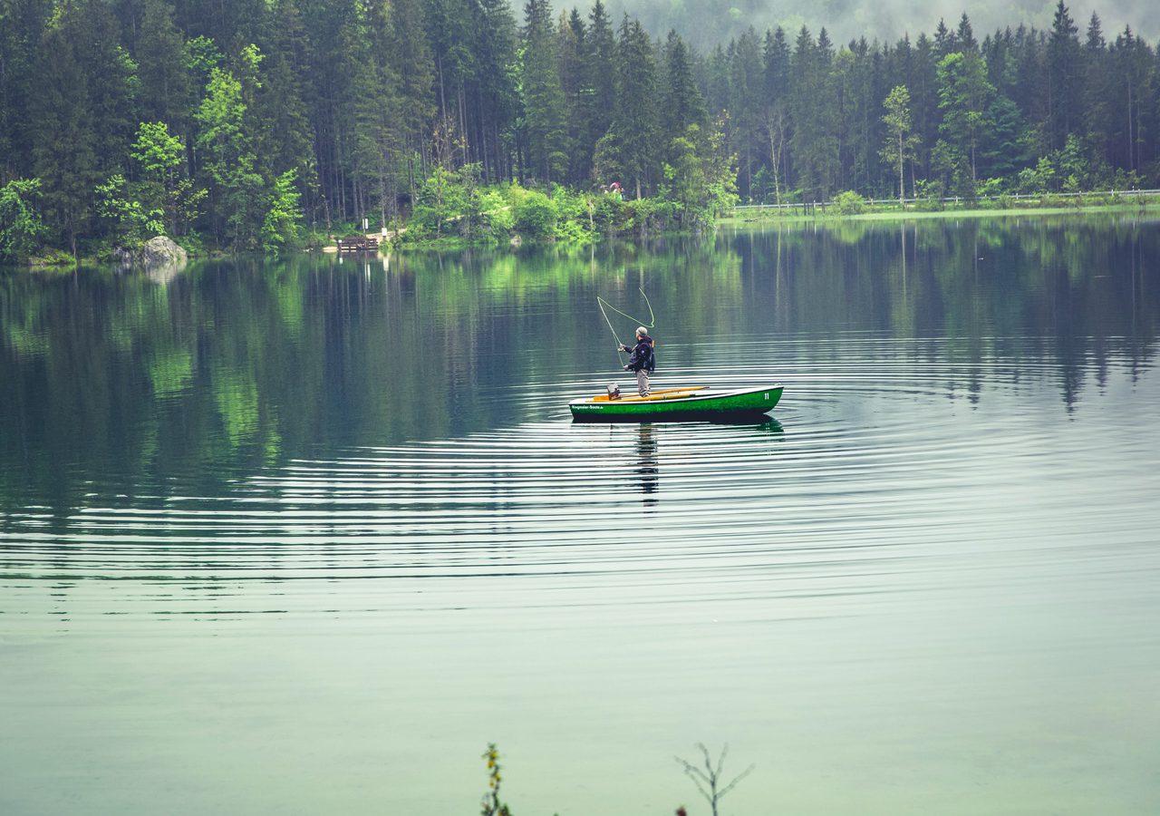 Fily fishing on Lake Maree