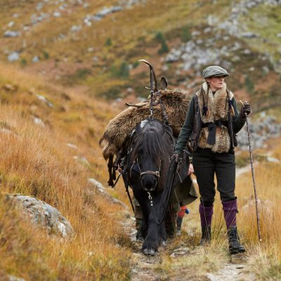 Highland stalking with ponies in Scotland
