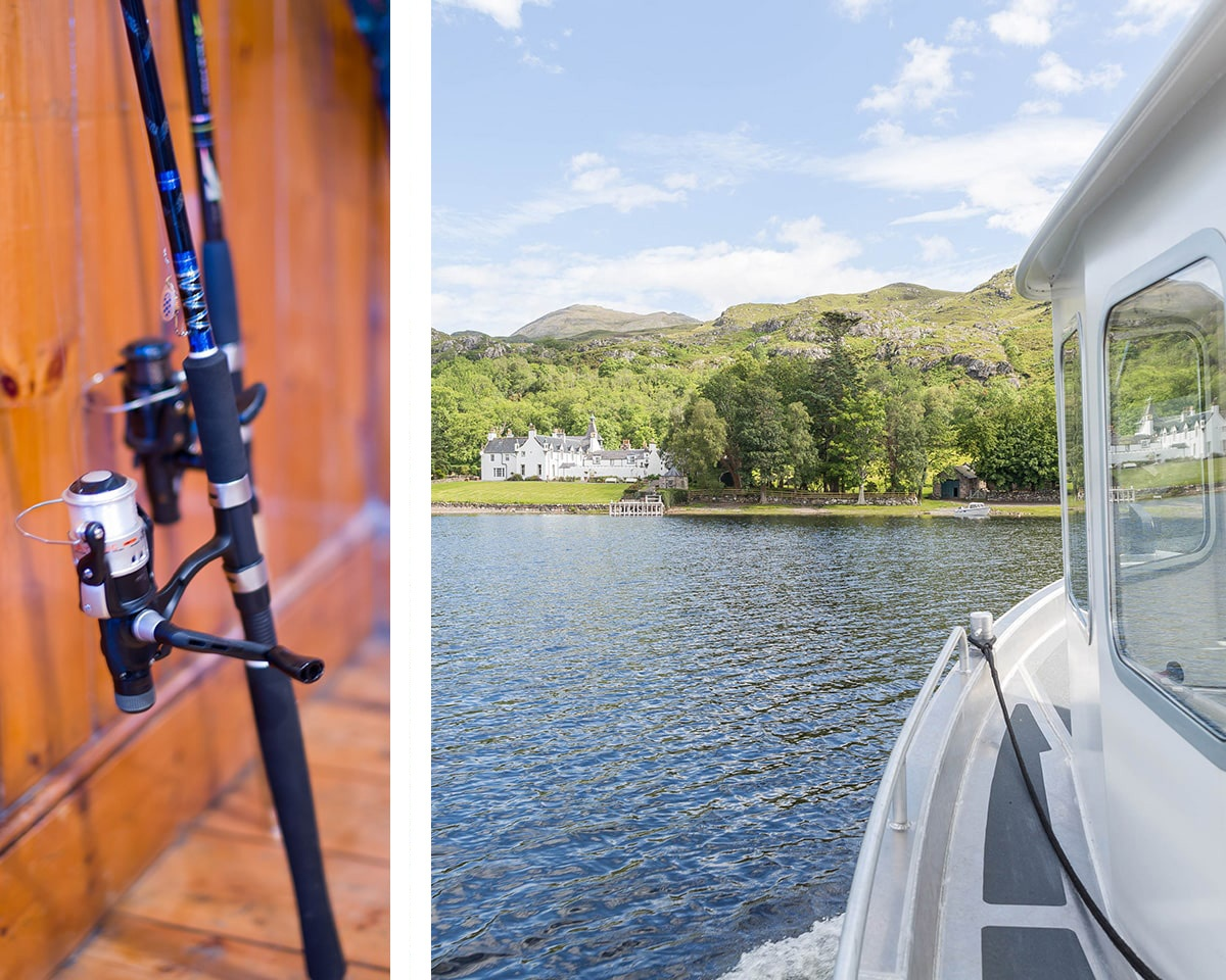 Lodge by the lake for fishing in the Highlands