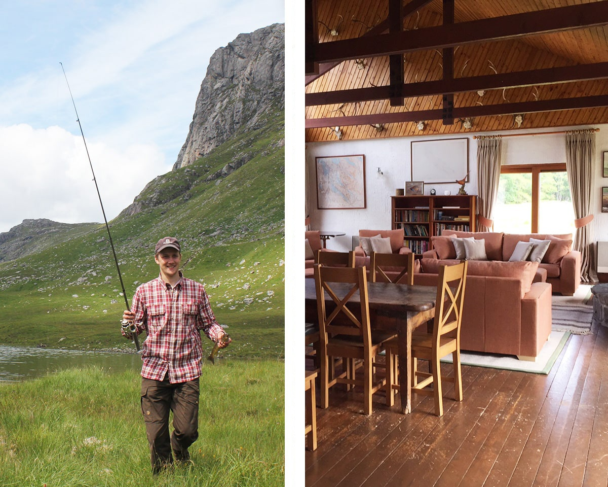 Self-catering fishing lodge near the lake