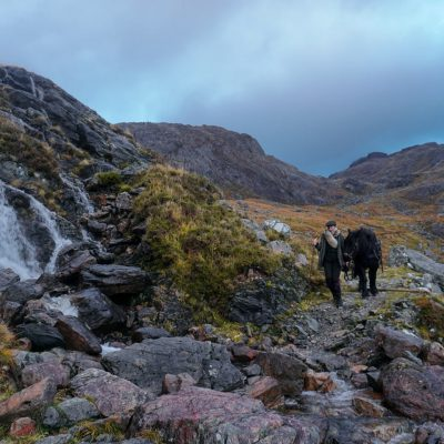 Slioch Mountain trekking in the Scottish highlands