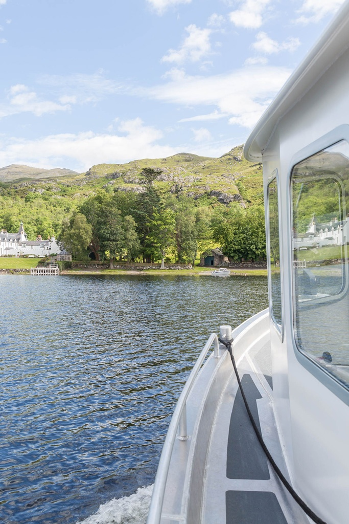 View on letterewe lodge by the sea on Loch Maree