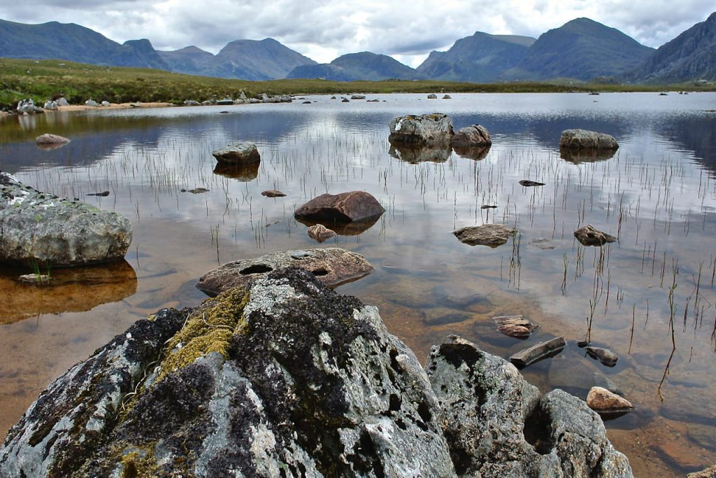 Fionn loch for brown trout fishing in Scotland