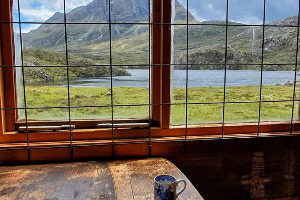View over Fionn loch from hunters lodge