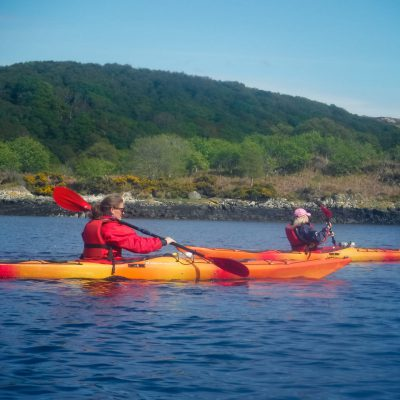 The Scottish coastline by kayak
