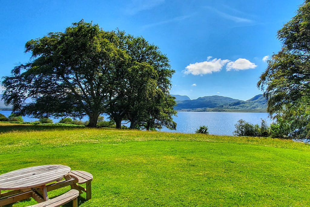 Ardlair lodge garden, near beautiful Loch Maree