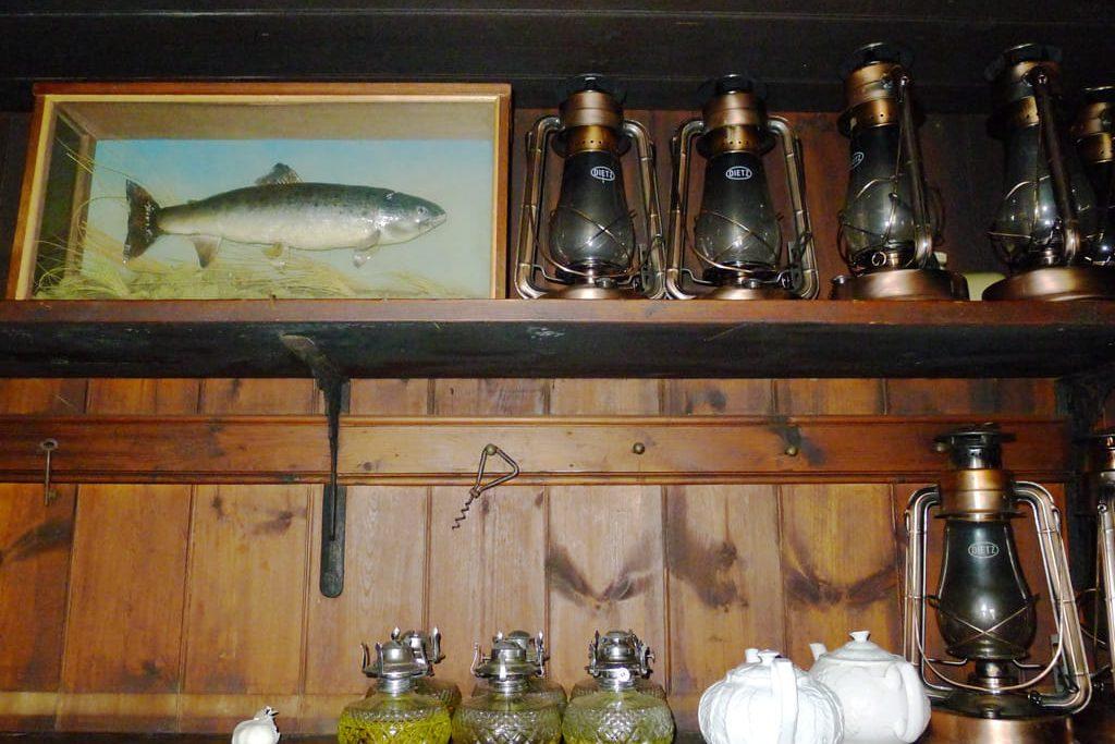 Interior of hunters lodge Carnmore
